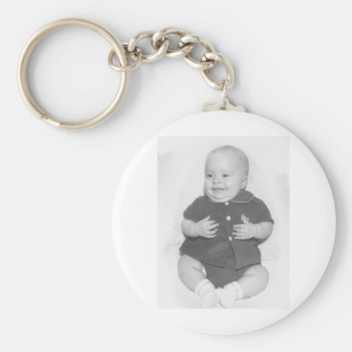 1950's Portrait of Baby Boy Key Chains