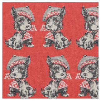 1950s Scottie dog in red Fabric