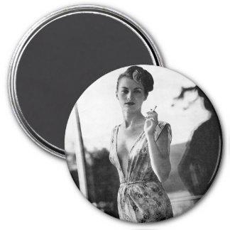 1950s Smoking Showgirl on break Magnet