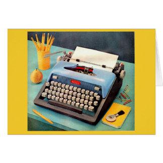 1950s typewriter ad image card