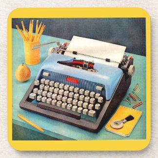1950s typewriter ad image coaster