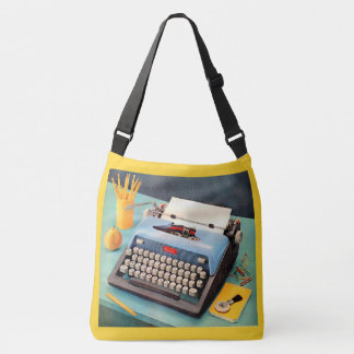 1950s typewriter ad image crossbody bag