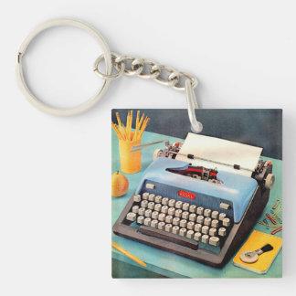1950s typewriter ad image key ring