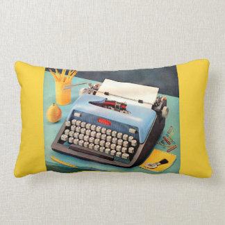 1950s typewriter ad image lumbar cushion