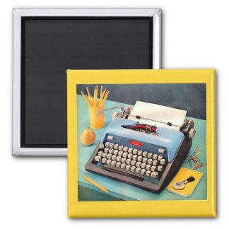 1950s typewriter ad image magnet