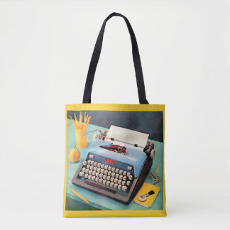 1950s typewriter tote bag