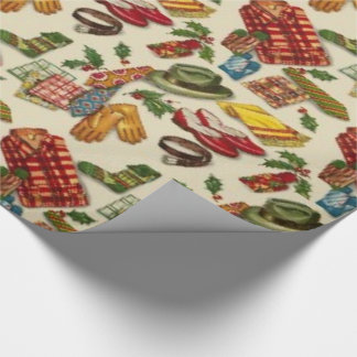 1950s Vintage Christmas Wrapping Paper
