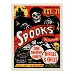 1950s Vintage Spook Show Art Posters