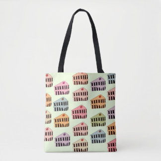 1950s vintage style cake pattern tote bag