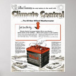1950s Willard Car Battery Ad Poster