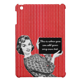 1950s Woman with a Sign Cover For The iPad Mini