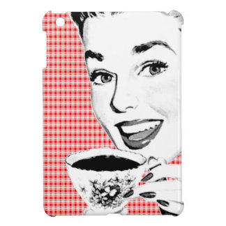 1950s Woman with a Teacup V2 iPad Mini Cover