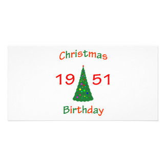 1951 Christmas Birthday Custom Photo Card