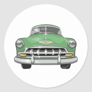 1952 Chevrolet Deluxe Classic Round Sticker
