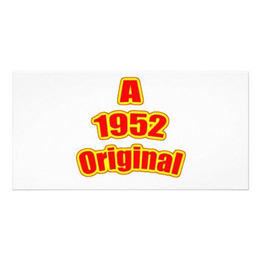 1952  Original Red Customized Photo Card
