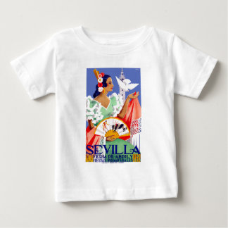 1952 Seville Spain April Fair Poster Baby T-Shirt