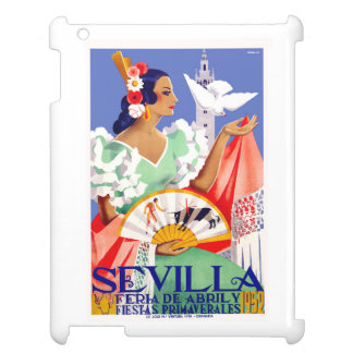 1952 Seville Spain April Fair Poster iPad Covers
