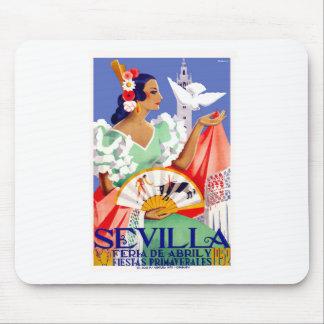 1952 Seville Spain April Fair Poster Mouse Pad