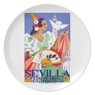 1952 Seville Spain April Fair Poster Plate
