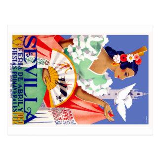1952 Seville Spain April Fair Poster Postcard