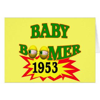 1953 Baby Boomer Greeting Card