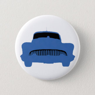 1953 Buick Pop Art Blue 6 Cm Round Badge