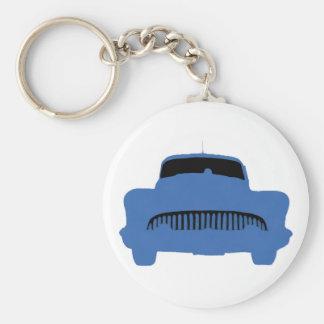 1953 Buick Pop Art Blue Basic Round Button Key Ring