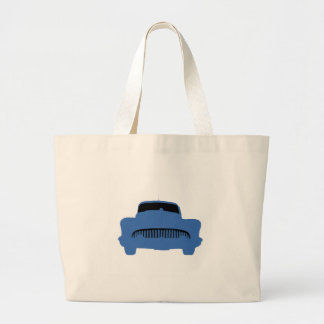 1953 Buick Pop Art Blue Large Tote Bag