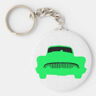 1953 Buick Pop Art Car Green Basic Round Button Key Ring