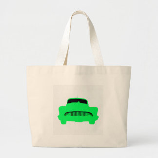 1953 Buick Pop Art Car Green Large Tote Bag