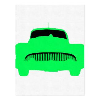 1953 Buick Pop Art Car Green Postcard