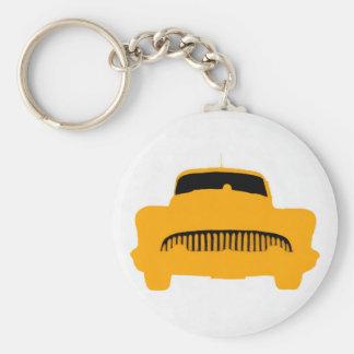 1953 Buick Square Orange Basic Round Button Key Ring