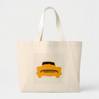 1953 Buick Square Orange Large Tote Bag