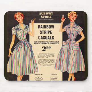 1953 Gimbels Subway Store dress sale Mouse Pad