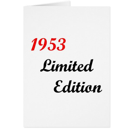 1953 Limited Edition Greeting Cards