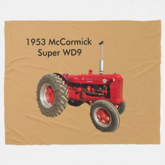 1953 McCormick Super WD9  Tractor Fleece Blanket
