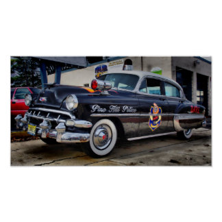 1954 Chevy D.A.R.E. Police Car Pine Hill NJ Posters