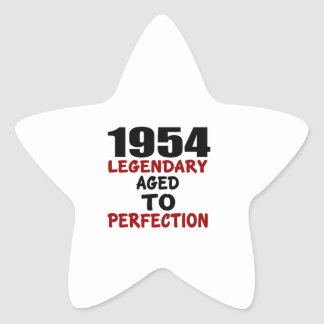 1954 LEGENDARY AGED TO PERFECTION STAR STICKER