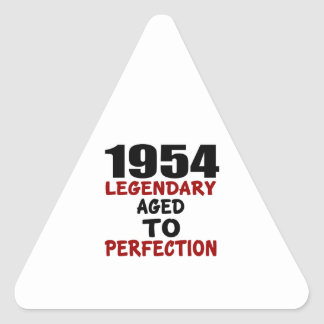 1954 LEGENDARY AGED TO PERFECTION TRIANGLE STICKER
