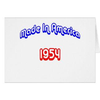 1954 Made In America Card
