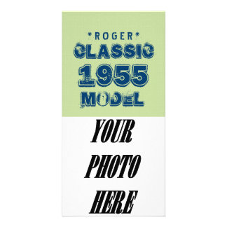 1955 60th Birthday CLASSIC MODEL Green J60 Customized Photo Card