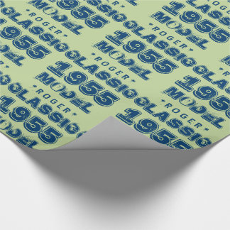 1955 60th Birthday CLASSIC MODEL Green J60 Wrapping Paper