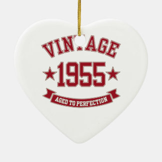 1955 Aged to Perfection Ceramic Heart Decoration