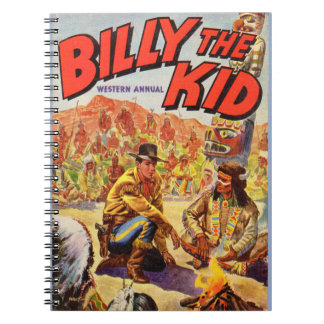 1955 Billy the Kid Western Annual cover Notebook