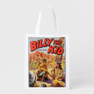1955 Billy the Kid Western Annual cover print Reusable Grocery Bag