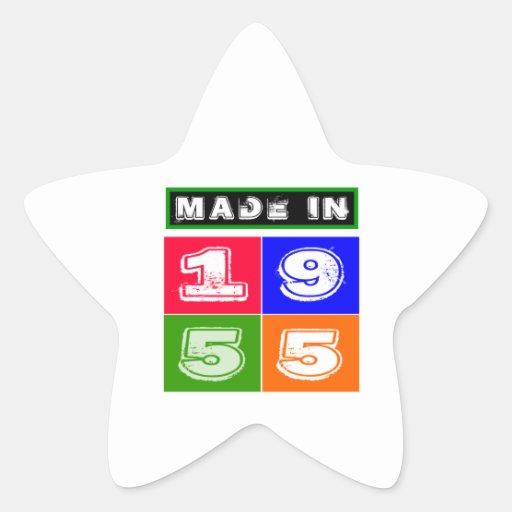 1955 Birthday Designs Star Sticker