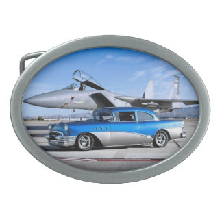 1955 Buick Special Classic Car Fighter Jet Belt Buckles