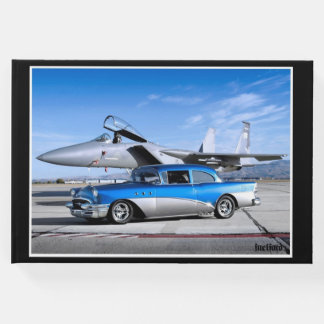 1955 Buick Special Classic Car Fighter Jet Guest Book