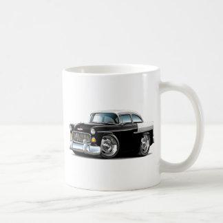 1955 Chevy Belair Black-White Car Coffee Mug