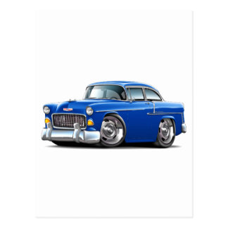 1955 Chevy Belair Blue Car Postcard